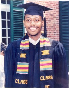 Rob Peace during graduation weekend in 2002.
