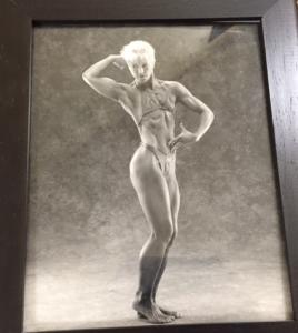 Lori as a competitive bodybuilder.