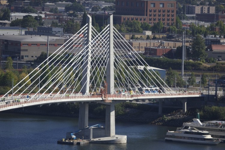 Portland's newest bridge over the Willamette River opened in September.
