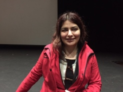 The documentary filmmaker Rokhsareh Ghaem Maghami.