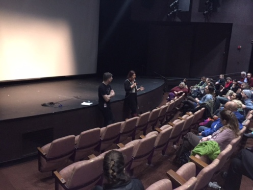 More than 150 people at the World Trade Center were treated to a post-screening Q&A with director Rokhsareh Ghaem Maghami.