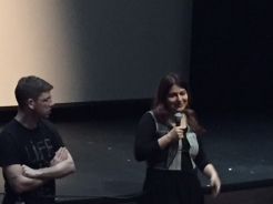 "Rokhsareh Ghaem Maghami answers a question about her film ""Sonita."""