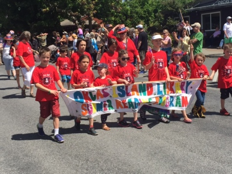 The 4th of July parade in Eastsound gets off to a colorful start.