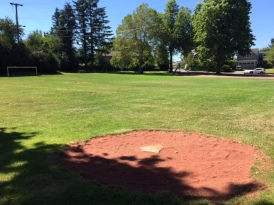 Softball field at Healy Heights Park.