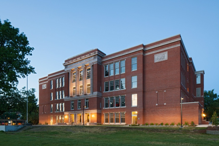 Closed in 1981, Washington High School in Southeast Portland has been redeveloped into commercial office and event space.