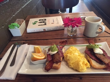 Gratuitous photo of the breakfast I consumed while reading the last chapter.
