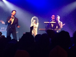 "Mayer Hawthorne on vocals and Jake One on keyboards epitomize ""cool"" during Tuxedo's show at the Wonder Ballroom."