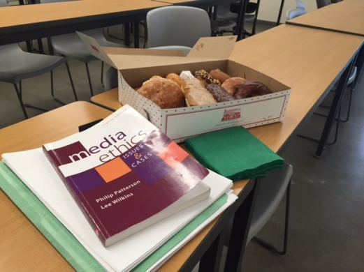 In every class, I treat my students to donuts on the day of their final exam.