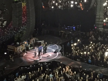 Coldplay's Oct. 2 concert at the Moda Center began with a minute of silence for shooting victims in Las Vegas and residents of Puerto Rico devastated by Hurricane Maria.