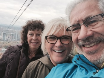 Terry, Lori and George on the OHSU aerial tram.